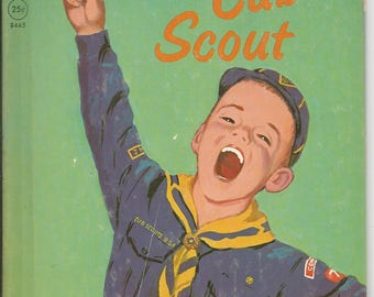 Vintage1964 Little Cub Scout Rand McNally ELf Book Children's Book