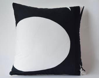 """One of a kind Marimekko Pillow Case Double-sided,Pattern Kaivo and Solid  White: 16""""x16""""(40x40cm)"""