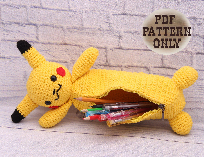 PDF PATTERN Pokemon Pikachu Bag Pencil Case Pokemon bag Pencil