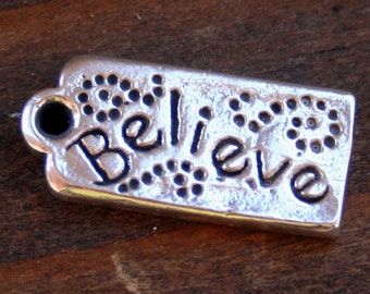 Whimsical Believe Tag Believe Charm /CHT11