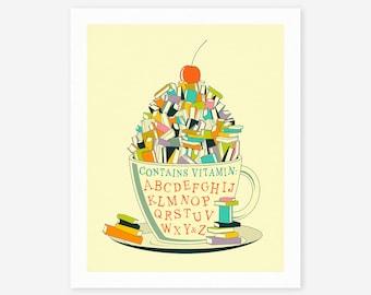 READ (Giclée Fine Art Print/Photo Print/Poster Print) Inspirational Pop Art