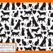 Silkscreen Stencil Raining Cats and Dogs pet lover crafting, polymer clay + mixed media