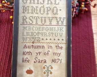 Primitive Autumn Sampler Repro