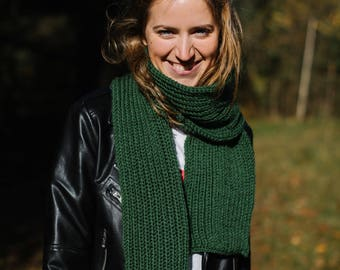 Merino Wool Scarf, Knitted scarf, Chunky Knit Scarf, Long scarf, Cosy scarf, Warm scarf, Winter scarf, Handmade scarf, Merino wool
