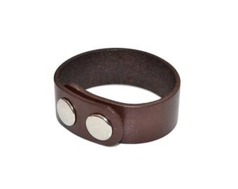 Brown Leather Wrap Bracelet / Leather Wrist Cuff, Mens Leather Bracelet / Leather Bracelet Women, Leather Cuff Bracelet, Leather Arm Cuff