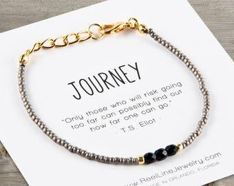 JOURNEY Bracelet BLACK & GOLD, Friendship Bracelet, Best Friend Gift, Best Friend Friendship Bracelet, Best Friend Bracelets