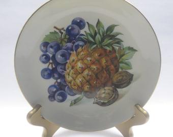 Vintage Czechoslovakian plate Bohemia Fruit Pineapple 8.5