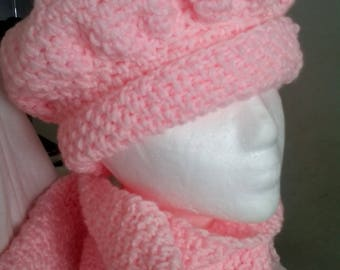 Pink Hat and Scarf