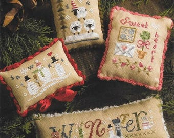 Lizzie Kate Winter Smalls #189 Counted Cross Stitch Pattern with Embellishments