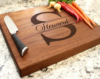 Personalized Chopping Block 12x15x1.75 - Cutting Board, Wedding Gift, Housewarming Gift, Anniversary Gift, Engagement W-004 GB
