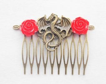 Dragon Hair Clip Dragon Hair Comb Fantasy Hair Clip Dragons Hair Comb Fantasy Dragon Hair Accessories Dragon Cosplay