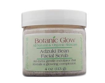 Adzuki Bean Face Scrub 2 oz - Gentle Exfoliating Scrub - All Naural - Organic Facial Scrub