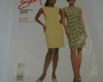 Pattern- McCall 8761 Tall Misses Dress- Sizes 14 - 20