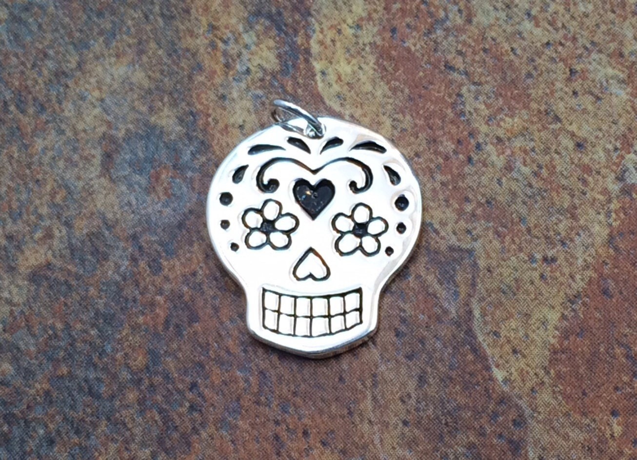 pin pendants skull and small pendant sugaring skulls mexican sugar necklace