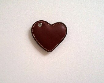 Animal rescue charity fundraiser. leather heart key fob for leathermaking or leathercrafts