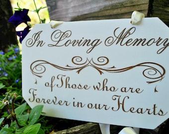 In Loving Memory Sign | In Loving Memory Wedding Sign | In Loving Memory | Wood In Loving Memory Sign | Memory Table Sign | Memorial Sign