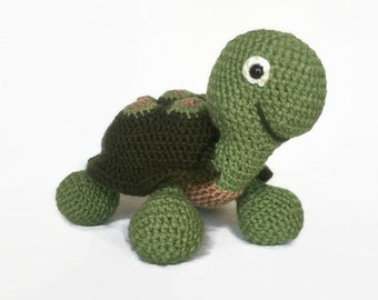 Turtle Stuffed Animal / Turtle Plush Toy / Turtle Baby Gift / Turtle Baby Shower / Turtle Nursery / Crochet Turtle