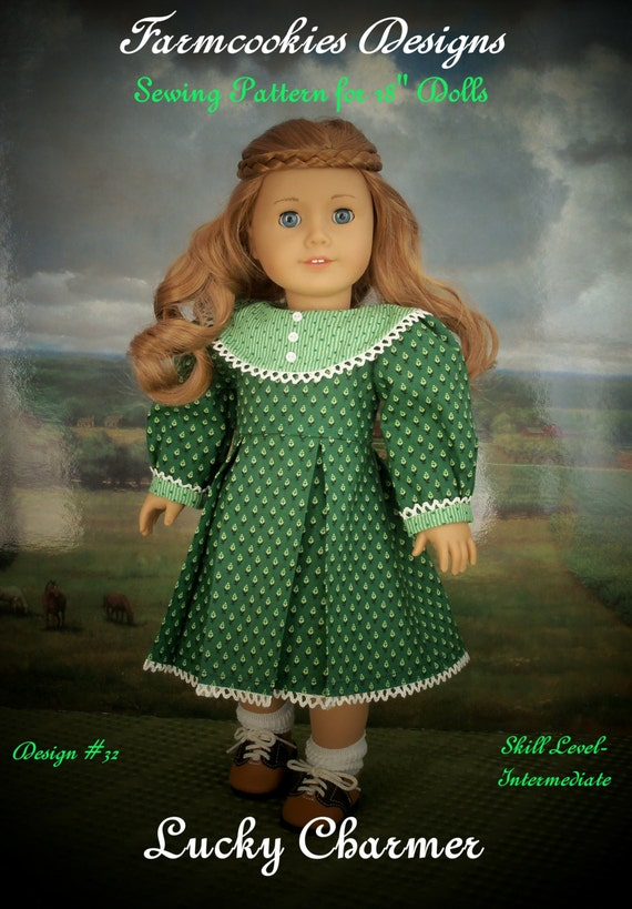 """PDF Sewing Pattern/  Lucky Charmer / Clothes fit American Girl® or Other 18"""" Doll"""