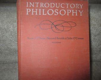 1967 Introductory Philosophy editors Frank Tillman Bernard Berofsky John O'Connor textbook