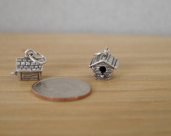 Birdhouse Sterling Silver Charm