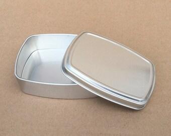 Small Metal Tin, 150ml Small Storage Tin Box, Small Organizer, DIY Container