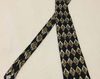 Vintage Pierre Cardin Silk Golf Necktie