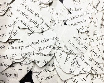 500 Hunger Games confetti hearts , party , wedding , card making , smashbooks, table top confetti