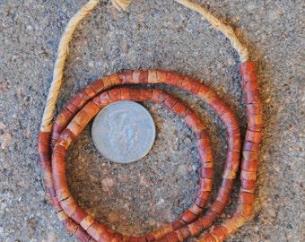 Vintage Bauxite/Pipestone Beads -4x5mm