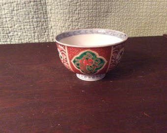 Vintàge Porcelain Asian Small Hand Painted Bowl