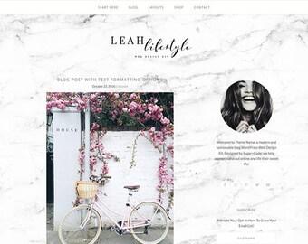Responsive WordPress Theme | Leah Lifestyle Feminine Blog Design | WordPress Template | Genesis Child Theme