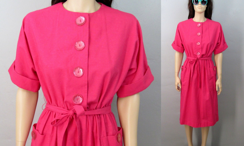 Vintage años 80 vestido vestido Mod ama de casa Vintage