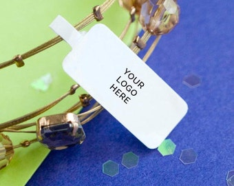 Jewelry price tag stickers printing-  white paper with laminate