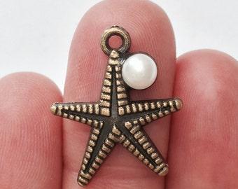 5 Starfish charms - BC075