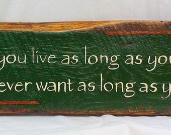 Irish Blessing Wood Sign With Celtic Design All Hand Painted On Native Oak