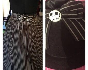 jack skelington skirt with matching fascinator