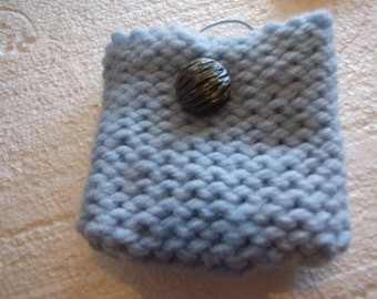 Baby Blue light  Wool  Mini bag
