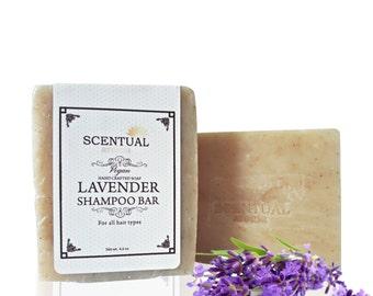 Lavender VEGAN Shampoo Bar, Lavender Rosemary Cold Process Shampoo, Organic Shampoo, Vegan Shampoo Bar, Handmade Shampoo Soap, Shampoo Bar