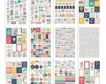 Carpe Diem Faith Stickers Tablet 703/Pkg 12 Sheets Simple Stories (8906)