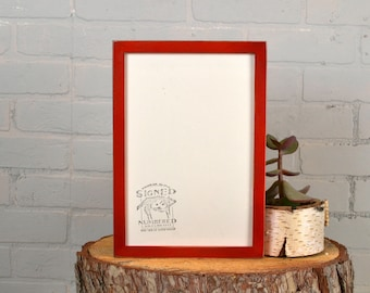 8x12 Picture Frame in Peewee Style with Vintage Red Dye Finish - IN STOCK Same Day Shipping - Handmade Classic 8 x 12 Frame