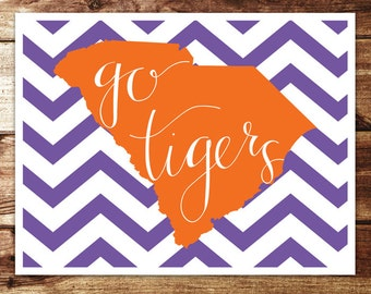 Clemson: Go Tigers Print