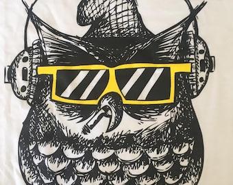no yolk! cool wear OWL shirt, first edition limited quantity