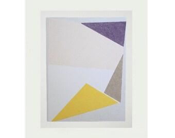 colourful geometric original screenprint, abstract art, minimal, mid century modern by Emma Lawrenson