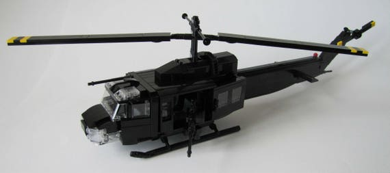 LEGO MILITARY Custom Night Version UH-1 Combat Huey Helicopter