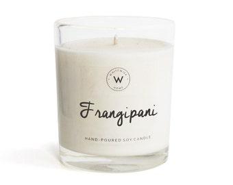 "Medium ""Frangipani"" Scented Soy Wax Candle"