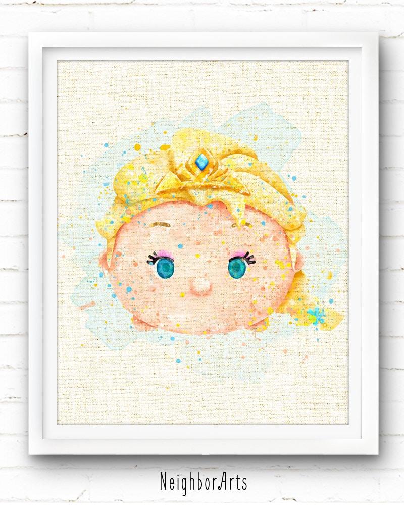 FREE SHIPPING Frozen art print Elsa Dsney Princess