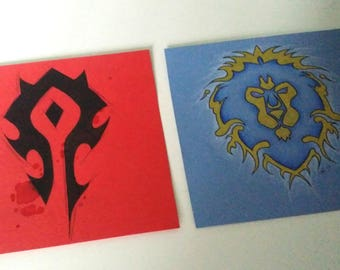 Original drawing - Horde and Alliance - World of Warcraft