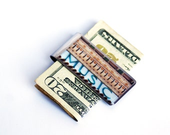 MONEY CLIP - Moneyclip, Money Clips for Men, Best Graduation Gift, Gift for Dad, Music Teacher Gift, Groomsmen Gift, Gift for Brother