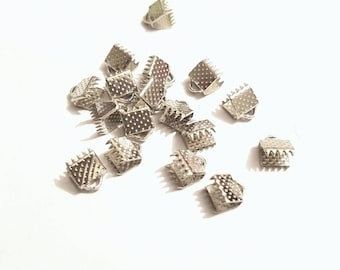 30 Ribbon end crimps for 5mm cord.