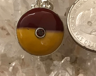 Mookaite and Garnet Pendant Necklace