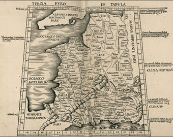 Poster, Many Sizes Available; Ptolemy Map Of France 2Nd Century